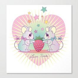 cute mice Canvas Print