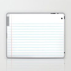 Notebook Paper Digital Watercolor School Chalk Laptop & iPad Skin