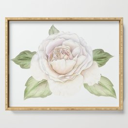 Soft Pink Rose Serving Tray