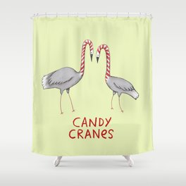 Candy Cranes Shower Curtain