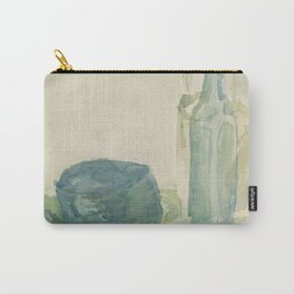 Transparencies in Blue Green Carry-All Pouch