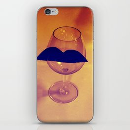 Hipster Wine Glass iPhone Skin