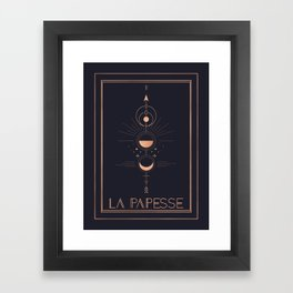 La Papesse or The High Priestess Tarot Framed Art Print