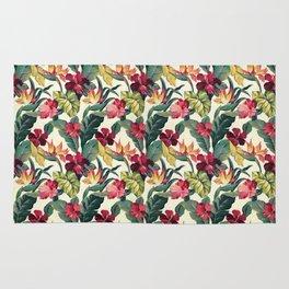 Colorful tropical garden Rug