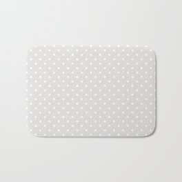 Dots (White/Platinum) Bath Mat