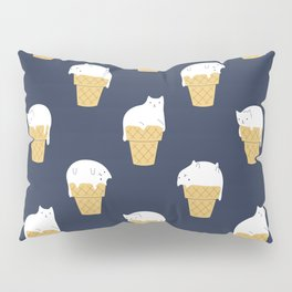Meowlting Pattern Pillow Sham