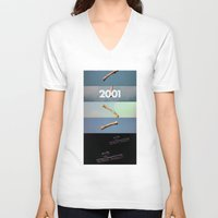 2001 a space odyssey V-neck T-shirts featuring 2001: a space odyssey by Lucas Preti