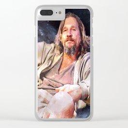 HIS DUDENESS, DUDER, OR EL DUDERINO Clear iPhone Case