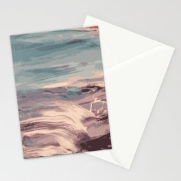 Abstract Sunset Beach Waves Stationery Cards