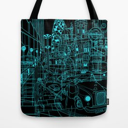London! Night Tote Bag