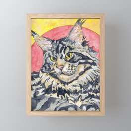 Maine Coon Framed Mini Art Print