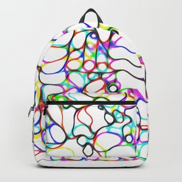 Multiple Colored Curvy Lines Backpack
