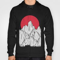 The red sun and the mountains Hoody