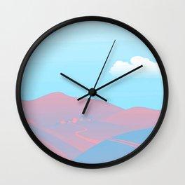 Transgender Pride Quaint Distant Farm Landscape Design Wall Clock
