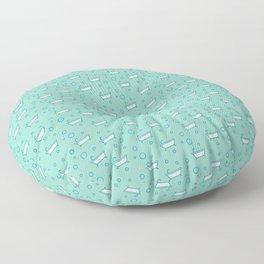 Rub a dub dub, bubbles and a bathtub (aqua) Floor Pillow