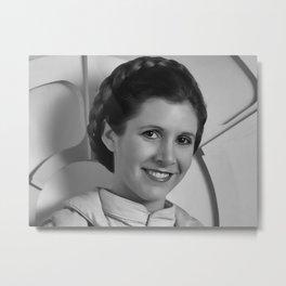 Princess Leia Portrait Metal Print