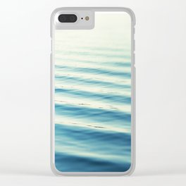 Ocean Waves Blue Photography, Aqua Water Sea Seascape Photo, Teal Beach Coastal Abstract Waves Clear iPhone Case
