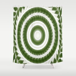 Green White Kaleidoscope Art 8 Shower Curtain