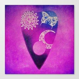 Purple Pretty Ouija Planchette, Occult Art, Ouija Art Canvas Print