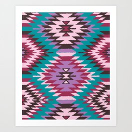 Navajo Dreams - Turquoise Art Print