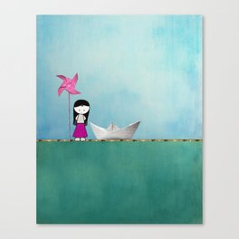 Little girl Canvas Print