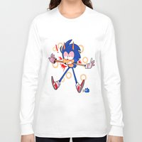 sonic Long Sleeve T-shirts featuring sonic by Kai L.