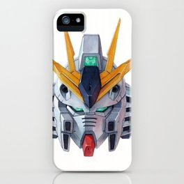 Nu Gundam Head iPhone Case