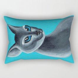 Big Blue Eyes Rectangular Pillow