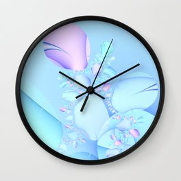 Flowers in Baby Pastels Wall Clock