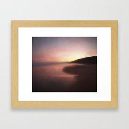 Sunrise on the coast Framed Art Print