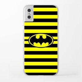 Bat Man Classic Stripes Clear iPhone Case