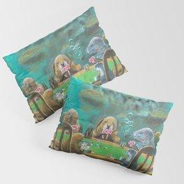 Pinnipeds Playing Poker Pillow Sham