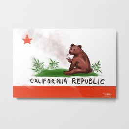 Smokey Bear Metal Print