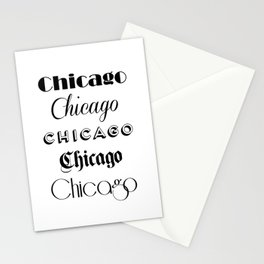 Chicago City Quote Sign, Calligraphy Text Art, Large Printable Photography, World City Print Stationery Cards