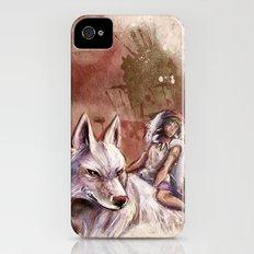 Miyazaki's Mononoke Hime - San and the Wolf TraDigital Painting Slim Case iPhone (4, 4s)