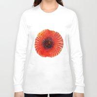 poppy Long Sleeve T-shirts featuring Poppy by Klara Acel