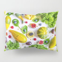 Fruits and vegetables pattern (1) Pillow Sham