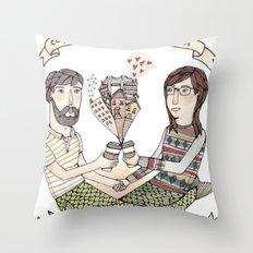 Coffee Tastes Better Throw Pillow