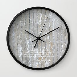 SERENITY PRAYER: NATURAL BARN Wall Clock