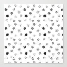 Brushmark Polka Dot Canvas Print