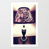 Retro Lamp Art Print