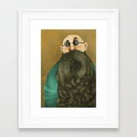 beard Framed Art Prints featuring Beard by Slavena Peneva
