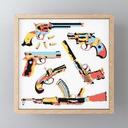 CMYK Guns Framed Mini Art Print