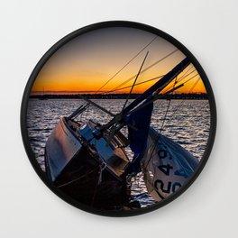 Broken Sailboat Wall Clock