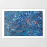 the life aquatic Art Prints featuring Aquatic by Victoria Bladen