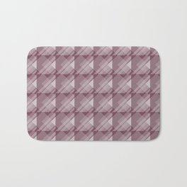 Modern Geometric Pattern 7 in Mulberry Bath Mat