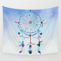 dream catcher Wall Tapestries featuring Dream Catcher by General Design Studio