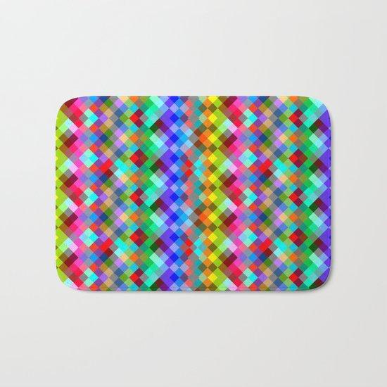 Multicolored pixels Bath Mat