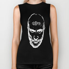 Phil Collins Glitch Biker Tank