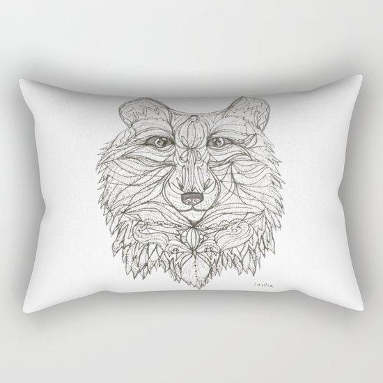 Mr Wolf Rectangular Pillow